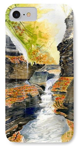 Autumn At Rainbow Falls  IPhone Case by Melly Terpening