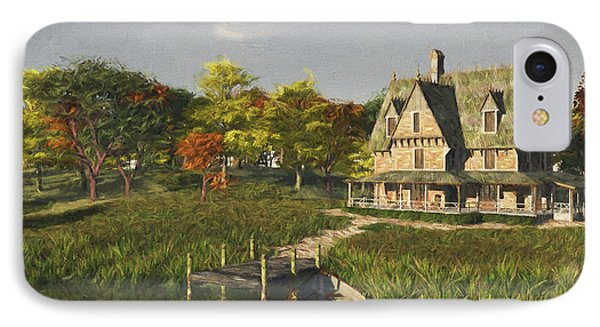 IPhone Case featuring the digital art Autumn At The Lake by Jayne Wilson