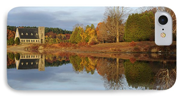 Autumn At The Old Stone Church IPhone Case