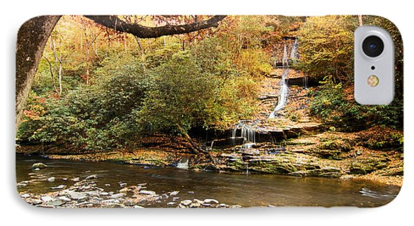 IPhone Case featuring the photograph Autumn At Tom Branch Falls  by Bob Decker