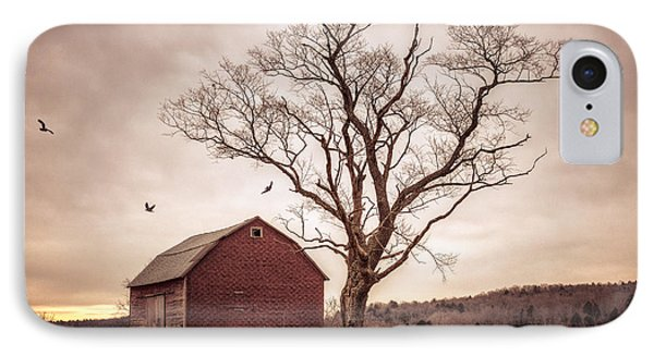 IPhone Case featuring the photograph Autumn Barn And Tree by Gary Heller