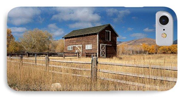 Autumn Barn IPhone Case by Joshua House