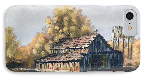 IPhone Case featuring the painting Autumn Barnyard by Sherril Porter