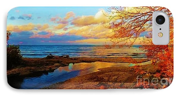 Autumn Beauty Lake Ontario Ny IPhone Case by Judy Via-Wolff