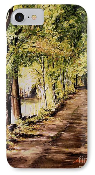 Autumn Begins In Underhill IPhone Case by Laurie Rohner