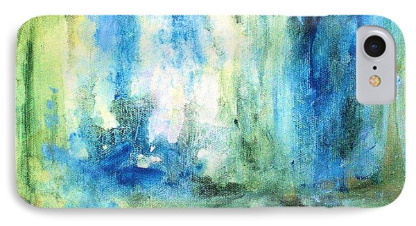 IPhone Case featuring the painting Spring Rain  by Laurie Rohner