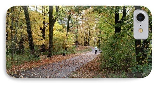 Autumn Bicycling IPhone Case by Felipe Adan Lerma