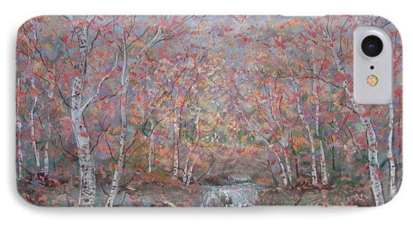 Autumn Birch Trees. IPhone Case