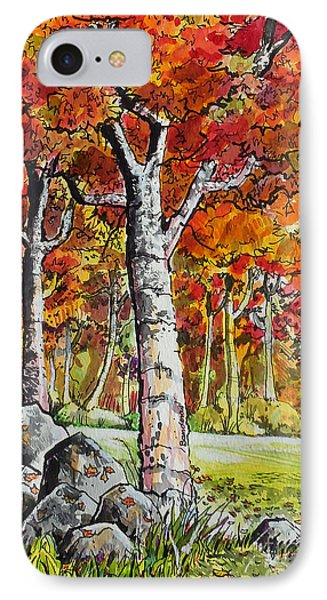 IPhone Case featuring the painting Autumn Bloom by Terry Banderas