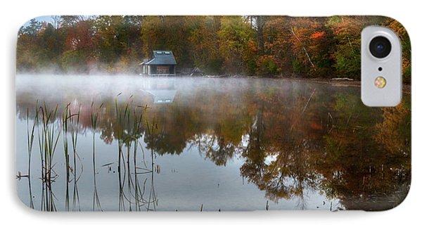 Autumn Boathouse IPhone Case