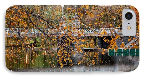 Autumn Bridge IPhone Case by Susan Cole Kelly