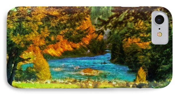 Autumn By A Montana Pond IPhone Case