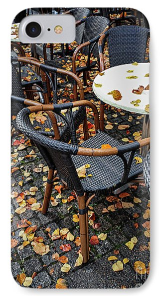 IPhone Case featuring the photograph Autumn Cafe by Elena Elisseeva