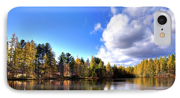 IPhone 7 Case featuring the photograph Autumn Calm At Woodcraft Camp by David Patterson
