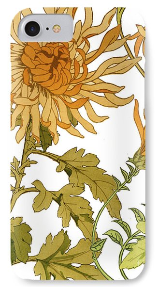 Autumn Chrysanthemums I IPhone Case by Mindy Sommers