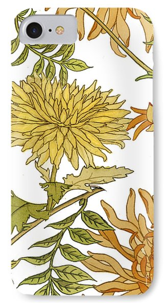 Autumn Chrysanthemums II IPhone Case by Mindy Sommers