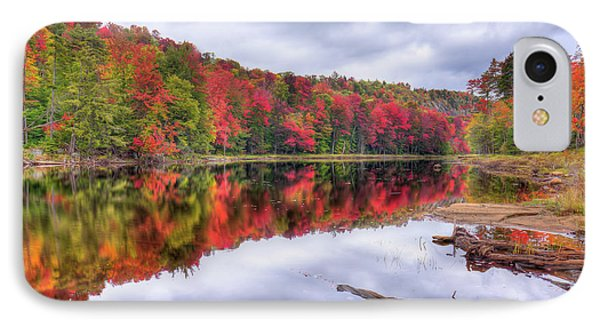 IPhone 7 Case featuring the photograph Autumn Color At The Pond by David Patterson