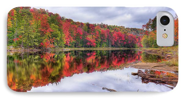 IPhone Case featuring the photograph Autumn Color At The Pond by David Patterson