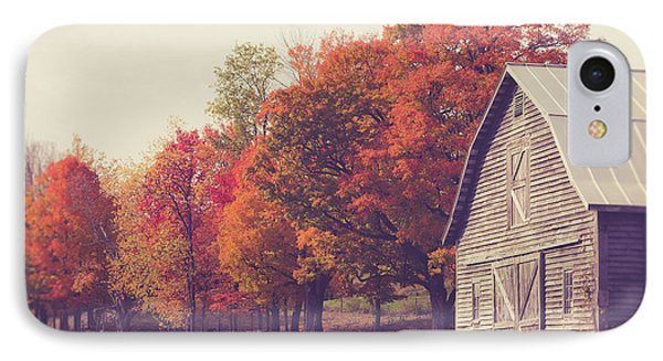 Autumn Color On The Old Farm IPhone Case