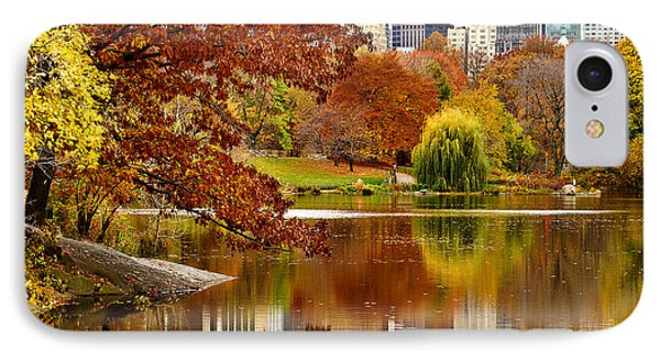 Autumn Colors In Central Park New York City IPhone Case by Sabine Jacobs