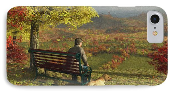 IPhone Case featuring the digital art Autumn Companions by Jayne Wilson