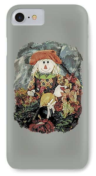 IPhone Case featuring the digital art Autumn Country Scarecrow by Kathy Kelly
