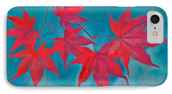 Autumn Crimson IPhone Case by William Jobes