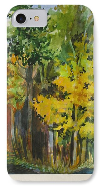 IPhone Case featuring the painting Autumn Day by Anna  Duyunova