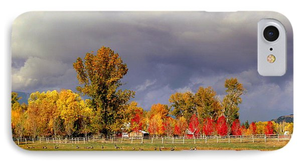 IPhone Case featuring the digital art Autumn Day by Irina Hays