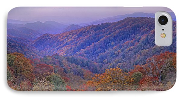 Autumn Deciduous Forest Great Smoky Phone Case by Tim Fitzharris