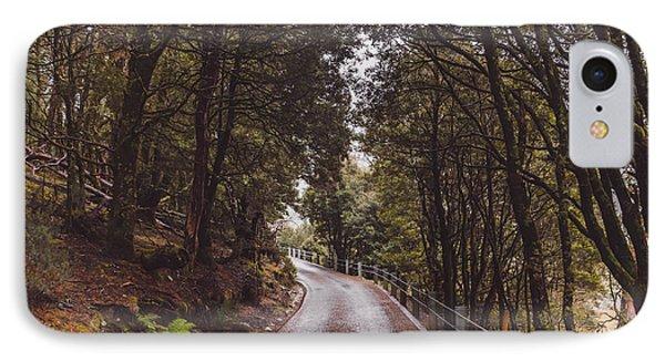 Autumn Drive On Pristine Cradle Mountain Road IPhone Case