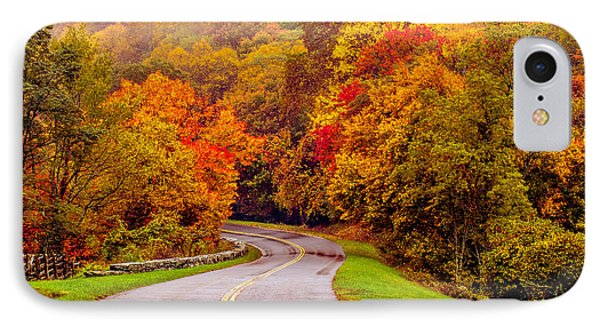 Autumn Drive On The Blue Ridge Phone Case by Alex Grichenko