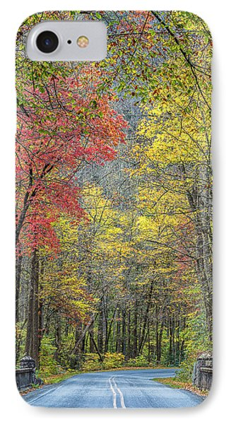 Autumn Drive Through Pisgah National Forest IPhone Case by Donnie Whitaker