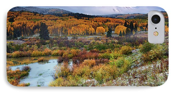 Autumn Dusting IPhone Case by John De Bord