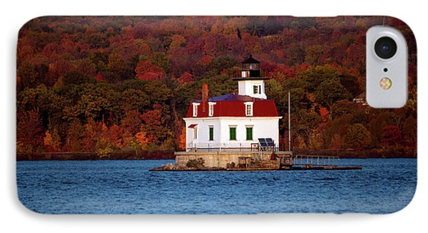 Autumn Evening At Esopus Lighthouse Phone Case by Jeff Severson