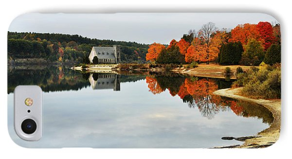 Autumn Evening At The Reservoir IPhone Case by Luke Moore