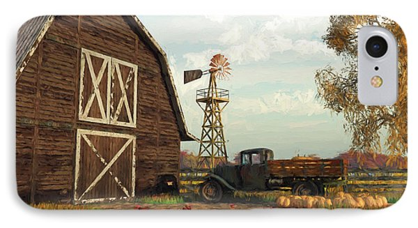 Autumn Farm Scene IPhone Case