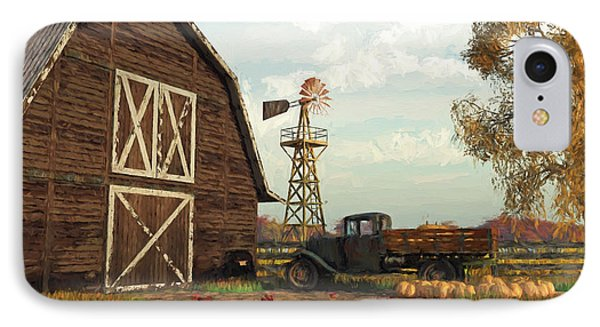 Autumn Farm Scene IPhone Case by Jayne Wilson