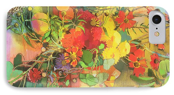 Autumn Flowers  Phone Case by Claire Spencer