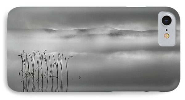IPhone 7 Case featuring the photograph Autumn Fog Black And White by Bill Wakeley