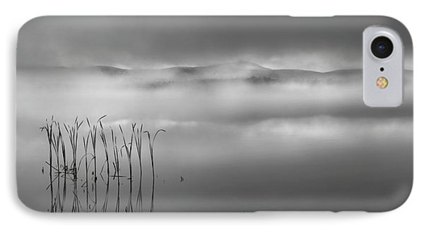 IPhone Case featuring the photograph Autumn Fog Black And White by Bill Wakeley