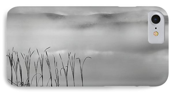 IPhone Case featuring the photograph Autumn Fog Black And White Square by Bill Wakeley