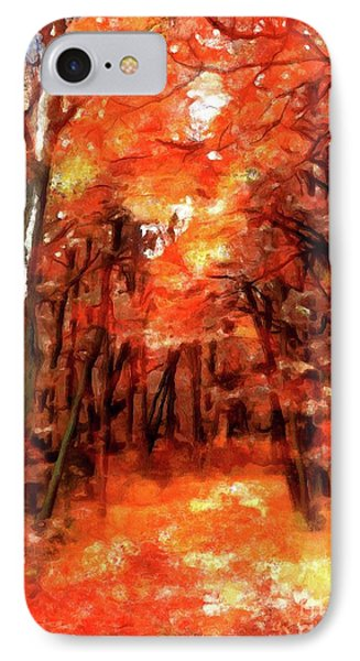 Autumn Forest IPhone Case by Autumn Moon