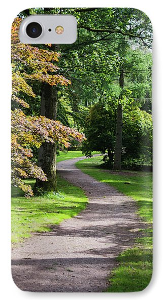 IPhone Case featuring the photograph Autumn Forest Path by Scott Lyons