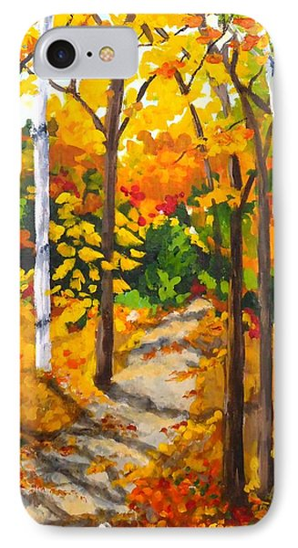 Autumn Forest Trail IPhone Case by Diane Arlitt