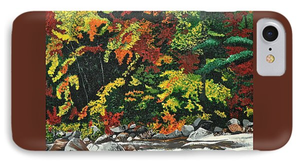 IPhone Case featuring the painting Autumn Frost by Donna Blossom