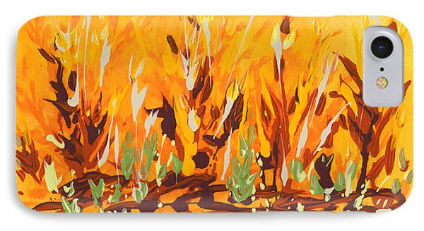 IPhone Case featuring the painting Autumn Garden by Holly Carmichael