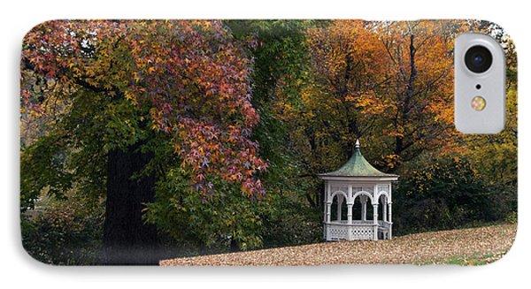Autumn Gazebo IPhone Case by Elsa Marie Santoro