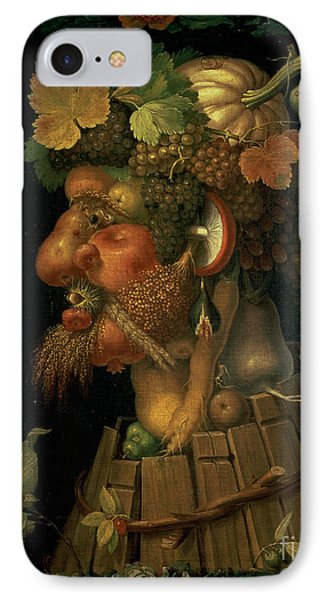 Autumn IPhone Case by Giuseppe Arcimboldo