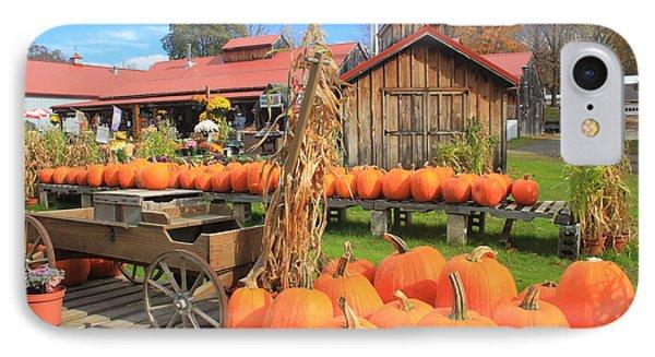 Autumn Harvest Pumpkins And Sugar House IPhone Case by John Burk